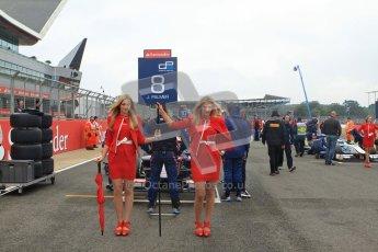 © 2012 Octane Photographic Ltd. British GP Silverstone - Sunday 8th July 2012 - GP2 Race 2 - iSport International - Jolyon Palmer on the grid with his Santander grid girls. Digital Ref : 0401lw7d0539
