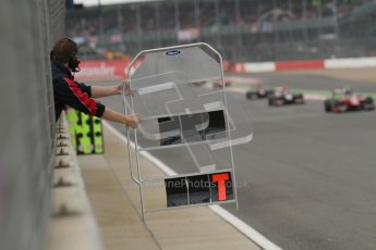© 2012 Octane Photographic Ltd. British GP Silverstone - Sunday 8th July 2012 - GP2 Race 2 - iSport pitcrew keep Jolyon Palmer and Marcus Ericsson up to date. Digital Ref : 0401lw7d7162