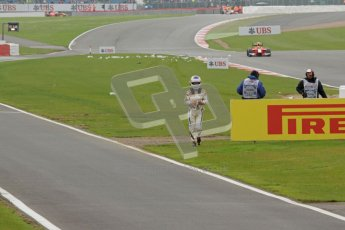 © 2012 Octane Photographic Ltd. British GP Silverstone - Sunday 8th July 2012 - GP2 Race 2 - Johnny Cecotto walks back to the pits. Digital Ref : 0401lw7d7500