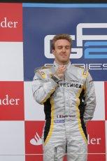 © 2012 Octane Photographic Ltd. British GP Silverstone - Sunday 8th July 2012 - GP2 Race 2 - Dams - Davide Valsecchi on the podium. Digital Ref : 0401lw7d7580