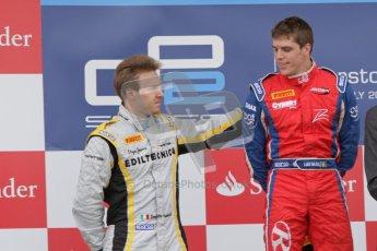© 2012 Octane Photographic Ltd. British GP Silverstone - Sunday 8th July 2012 - GP2 Race 2 - Davide Valsecchi and Luiz Razia on the podium. Digital Ref : 0401lw7d7593