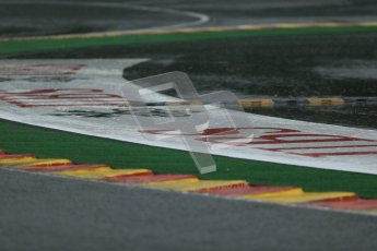 © 2012 Octane Photographic Ltd. Belgian GP Spa - Friday 31st August 2012 - F1 Practice 2. A very wet and empty track sums up most of the session . Digital Ref : 0483lw1d4782