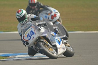 © Octane Photographic Ltd. Thundersport – Donington Park -  24th March 2012. RST Motorcycle Clothing Golden Era Superbikes, Chris Matthews and Andrew Duncan. Digital ref : 0257cb7d2797