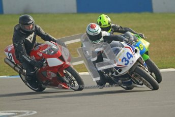 © Octane Photographic Ltd. Thundersport – Donington Park -  24th March 2012. RST Motorcycle Clothing Golden Era Superbikes, Chris Matthews, Josh Daley and Nick Williamson. Digital ref : 0257cb7d2817