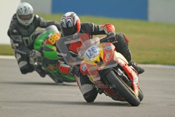 © Octane Photographic Ltd. Thundersport – Donington Park -  24th March 2012. HMT Racing Pre-National Sport 600, Dean Young and Michael Golden. Digital ref : 0255cb7d2208