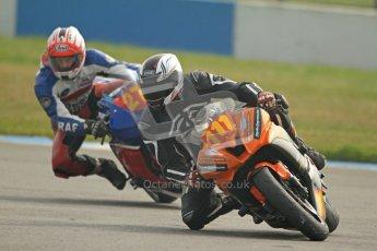 © Octane Photographic Ltd. Thundersport – Donington Park -  24th March 2012. HMT Racing Pre-National Sport 600, Ryan Peters and Gary Hignett. Digital ref : 0255cb7d2225
