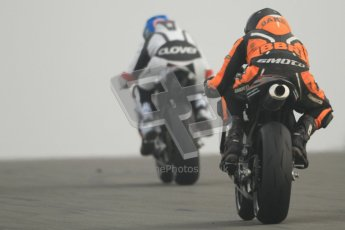 © Octane Photographic Ltd. Thundersport – Donington Park -  24th March 2012. Doodson Motorsport Supertwins & F400, Clair Myler and Alex Baker. Digital ref : 0254cb7d2125