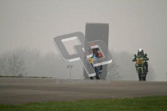 © Octane Photographic Ltd. Thundersport – Donington Park - 24th March 2012. Doodson Motorsport Supertwins & F400, Christopher Spink and Dave Taylor. Digital ref : 0254lw7d0796