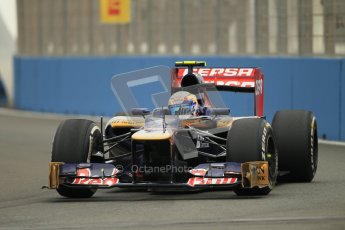 © 2012 Octane Photographic Ltd. European GP Valencia - Friday 22nd June 2012 - F1 Practice 1. Toro Rosso STR7 - Jean-Eric Vergne. Digital Ref : 0367lw1d2821