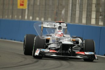 © 2012 Octane Photographic Ltd. European GP Valencia - Friday 22nd June 2012 - F1 Practice 1. Sauber C31 - Kamui Kobayashi. Digital Ref : 0367lw1d2917