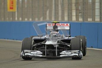 © 2012 Octane Photographic Ltd. European GP Valencia - Friday 22nd June 2012 - F1 Practice 1. Williams FW34 - Valtteri Bottas. Digital Ref : 0367lw1d2929