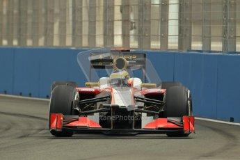 © 2012 Octane Photographic Ltd. European GP Valencia - Friday 22nd June 2012 - F1 Practice 1. HRT F112 - Pedro de La Rosa. Digital Ref : 0367lw1d3189