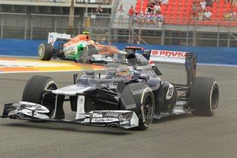 © 2012 Octane Photographic Ltd. European GP Valencia - Friday 22nd June 2012 - F1 Practice 1. Williams FW34 - Pastor Maldonado. Digital Ref : 0367lw1d3247