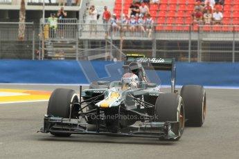 © 2012 Octane Photographic Ltd. European GP Valencia - Friday 22nd June 2012 - F1 Practice 1. Caterham CT01 - Vitaly Petrov. Digital Ref : 0367lw1d3262