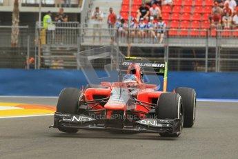 © 2012 Octane Photographic Ltd. European GP Valencia - Friday 22nd June 2012 - F1 Practice 1. Marussia MR01 - Charles Pic. Digital Ref : 0367lw1d3268
