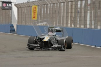 © 2012 Octane Photographic Ltd. European GP Valencia - Friday 22nd June 2012 - F1 Practice 1. Caterham CT01 - Vitaly Petrov. Digital Ref : 0367lw7d9879