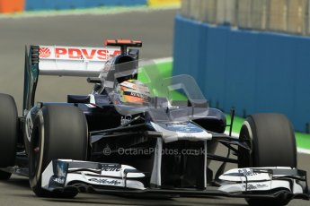 © 2012 Octane Photographic Ltd. European GP Valencia - Friday 22nd June 2012 - F1 Practice 2. Williams FW34 - Pastor Maldonado. Digital Ref : 0368lw1d3763