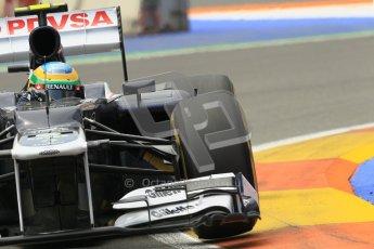 © 2012 Octane Photographic Ltd. European GP Valencia - Friday 22nd June 2012 - F1 Practice 2. Williams FW34 - Bruno Senna. Digital Ref : 0368lw1d3979
