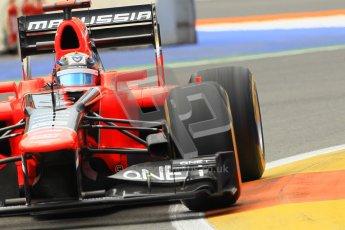 © 2012 Octane Photographic Ltd. European GP Valencia - Friday 22nd June 2012 - F1 Practice 2. Marussia MR01 - Timo Glock. Digital Ref : 0368lw1d4026
