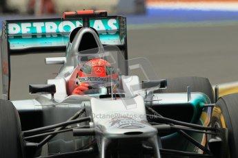 © 2012 Octane Photographic Ltd. European GP Valencia - Friday 22nd June 2012 - F1 Practice 2. Mercedes W03 - Michael Schumacher. Digital Ref : 0368lw1d4062