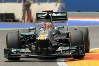 © 2012 Octane Photographic Ltd. European GP Valencia - Friday 22nd June 2012 - F1 Practice 2. Caterham CT01 - Heikki Kovalainen. Digital Ref : 0368lw1d4133