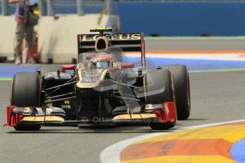 © 2012 Octane Photographic Ltd. European GP Valencia - Friday 22nd June 2012 - F1 Practice 2. Lotus E20 - Romain Grosjean. Digital Ref : 0368lw1d4160