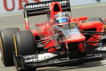 © 2012 Octane Photographic Ltd. European GP Valencia - Friday 22nd June 2012 - F1 Practice 2. Marussia MR01 - Timo Glock. Digital Ref : 0368lw1d4252