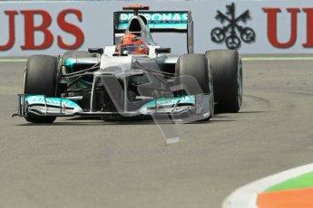 © 2012 Octane Photographic Ltd. European GP Valencia - Friday 22nd June 2012 - F1 Practice 2. Mercedes W03 - Michael Schumacher. Digital Ref : 0368lw1d4304