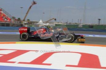 © 2012 Octane Photographic Ltd. European GP Valencia - Friday 22nd June 2012 - F1 Practice 2. Toro Rosso STR7 - Jean-Eric Vergne. Digital Ref : 0368lw7d0575