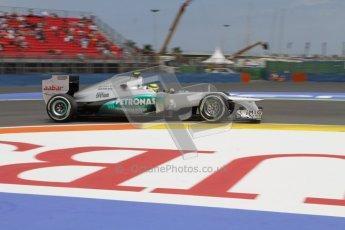 © 2012 Octane Photographic Ltd. European GP Valencia - Friday 22nd June 2012 - F1 Practice 2. Mercedes W03 - Nico Rosberg. Digital Ref : 0368lw7d0604