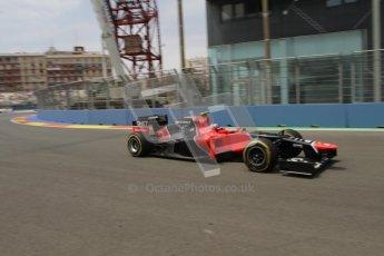 © 2012 Octane Photographic Ltd. European GP Valencia - Friday 22nd June 2012 - F1 Practice 2. Marussia MR01 - Charles Pic. Digital Ref : 0368lw7d0743