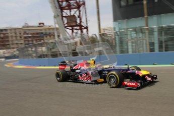 © 2012 Octane Photographic Ltd. European GP Valencia - Friday 22nd June 2012 - F1 Practice 2. Red Bull RB8 - Mark Webber. Digital Ref : 0368lw7d0756