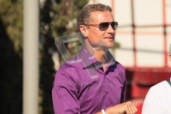 © 2012 Octane Photographic Ltd. European GP Valencia - Sunday 24th June 2012 - F1 Paddock. David Coulthard - BBC TV. Digital Ref : 0373lw1d5923