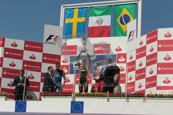 © 2012 Octane Photographic Ltd. European GP Valencia - Saturday 23rd June 2012 - GP2 Race 1 Podium. Esteban Gutierrez, Marcus Ericsson and Luiz Razia. Digital Ref :  0372lw1d5848