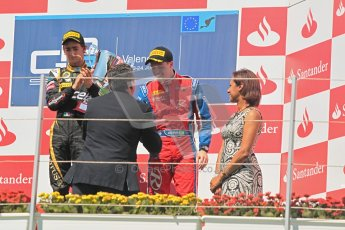 © 2012 Octane Photographic Ltd. European GP Valencia - Saturday 23rd June 2012 - GP2 Race 1 Podium. Esteban Gutierrez, Marcus Ericsson and Luiz Razia. Digital Ref :  0372lw1d5855
