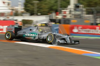 © 2012 Octane Photographic Ltd. European GP Valencia - Saturday 23rd June 2012 - F1 Practice 3. Mercedes W03 - Nico Rosberg. Digital Ref : 0371lw1d4674