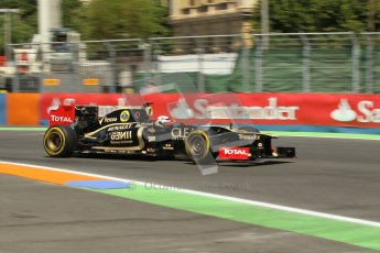 © 2012 Octane Photographic Ltd. European GP Valencia - Saturday 23rd June 2012 - F1 Practice 3. Lotus E20 - Kimi Raikkonen. Digital Ref : 0371lw1d4706