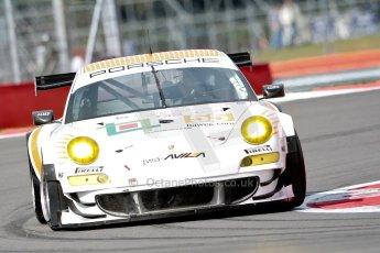 © Chris Enion/Octane Photographic Ltd. FIA WEC Free practice 3 – Silverstone. Saturday 25th August 2012. Porsche 911GT3 RSR - JWA-Avila. Paul Daniels, Markus Palttala and Joel Camathias. Digital ref : 0470ce1d0004
