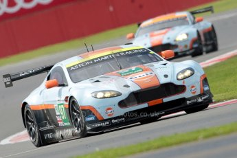 © Chris Enion/Octane Photographic Ltd. FIA WEC Qualifying – Silverstone. Saturday 25th August 2012. Aston Martin V8 Vantage - Aston Martin Racing. Stefan Mucke, Darren Turner and Adrian Fernandez followed by Adrian Howard, Jonathan Adam and Paul White. Digital ref : 0471ce1d0062