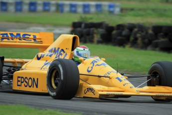 © Jones Photography 2012. 2nd June 2012 - Steve Griffiths, 1989 Lotus 101, Pembrey, Welsh Motorsport Festival. Digital Ref : 0366CJ1608