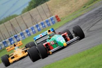 © Jones Photography 2012. 2nd June 2012 - John Reaks, 1990 Benetton B190, Steve Griffiths, 1989 Lotus 101, Pembrey, Welsh Motorsport Festival. Digital Ref : 0366CJ2171