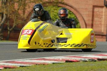 © Octane Photographic Ltd. Wirral 100, 28th April 2012. ACU/FSRA British F2 Sidecars Championship. John Saunders/Shaun Parker - Shelbourne Honda. Race. Digital ref : 0310cb1d5395