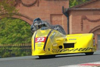 © Octane Photographic Ltd. Wirral 100, 28th April 2012. ACU/FSRA British F2 Sidecars Championship. John Saunders/Shaun Parker - Shelbourne Honda. Race. Digital ref : 0310cb1d5413