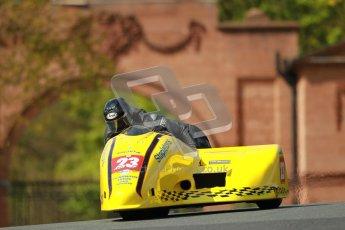 © Octane Photographic Ltd. Wirral 100, 28th April 2012. ACU/FSRA British F2 Sidecars Championship. John Saunders/Shaun Parker - Shelbourne Honda. Race. Digital ref : 0310cb1d5447