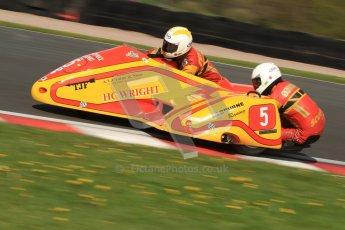 © Octane Photographic Ltd. Wirral 100, 28th April 2012. ACU/FSRA British F2 Sidecars Championship. Carl Fenwick/Mark Sayers - Shelbourne Honda. Free Practice.  Digital ref : 0310cb7d8887