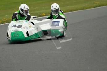 © Octane Photographic Ltd. Wirral 100, 28th April 2012. Sidecars. Anthony Eades/Ian Greensmith. Free Practice.  Digital ref : 0308cb1d5134