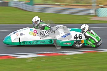 © Octane Photographic Ltd. Wirral 100, 28th April 2012. Sidecars. Anthony Eades/Ian Greensmith. Free Practice. Digital ref : 0308cb7d8723