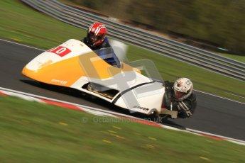 © Octane Photographic Ltd. Wirral 100, 28th April 2012. Sidecars. Free Practice. Jim Stocks/Dave Caulfield. Digital ref : 0308cb7d8809