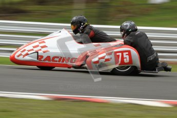 © Octane Photographic Ltd. Wirral 100, 28th April 2012. Sidecars. Qualifying race. John Shipley/Stephen Cunliffe. Digital ref : 0308cb7d9114