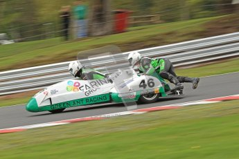 © Octane Photographic Ltd. Wirral 100, 28th April 2012. Sidecars. Anthony Eades/Ian Greensmith. Qualifying race. Digital ref : 0308cb7d9145